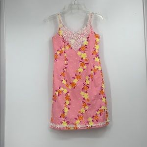 LILLY PULITZER vintage pink & yellow dress
